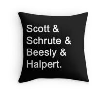 The Office Characters Throw Pillow