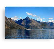 Steamship on New Zealand Lake Canvas Print