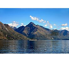 Steamship on New Zealand Lake Photographic Print