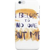 I Belong to No One but Me (Orange/Purple) iPhone Case/Skin