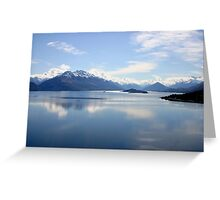 New Zealand landscape Lake Wakatipu Greeting Card