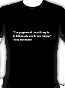 The purpose of the military T-Shirt