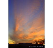 Sky Ablaze featured in The World As We See It , or as we missed it. Photographic Print