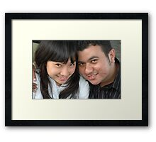 young couple Framed Print