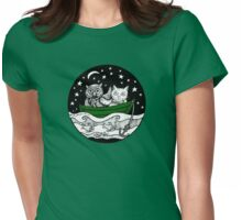 Beautiful Pea Green Boat Tee Womens Fitted T-Shirt