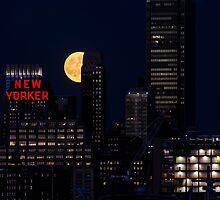 Blue Moon over The Apple by Dennis Maida