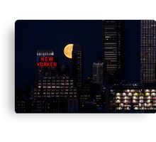 Blue Moon over The Apple Canvas Print