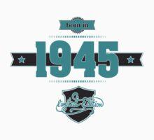 Born in 1945 (Blue&Darkgrey) Kids Tee