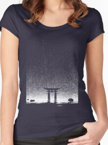 Japan Night at Torii Gate Women's Fitted Scoop T-Shirt
