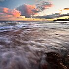 Charmouth beach at sunset by Shaun Whiteman