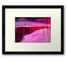 Ice on Red River Framed Print