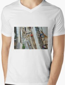 Escaletors at Kodak Theatre Mall Mens V-Neck T-Shirt