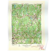 Massachusetts  USGS Historical Topo Map MA Franklin 351705 1939 31680 Poster