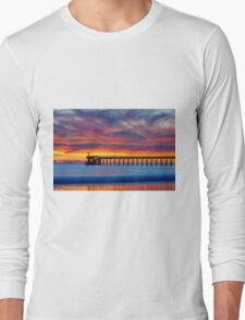 Bacara (Haskell's ) Beach and pier, Santa Barbara Long Sleeve T-Shirt