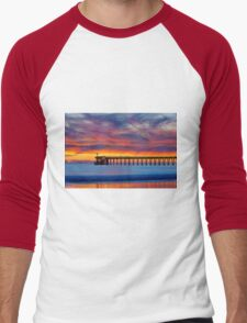 Bacara (Haskell's ) Beach and pier, Santa Barbara Men's Baseball ¾ T-Shirt