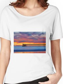 Bacara (Haskell's ) Beach and pier, Santa Barbara Women's Relaxed Fit T-Shirt
