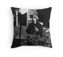 Greens Lady Throw Pillow