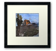 El Capitan At Sunrise - Guadalupe Mountains Framed Print