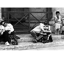 Tourists Photographic Print