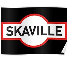 Skaville train station sign - Sydney version Poster