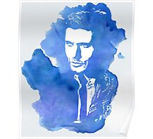 Dean Winchester Blue Watercolor Poster