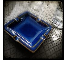 Blue Ashtray - Shenzhen, China Photographic Print