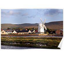 Windmill, Blennerville, Kerry, Ireland Poster