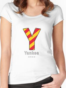 Y = Yankee Women's Fitted Scoop T-Shirt