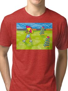 another rainy day in Vectorville Tri-blend T-Shirt