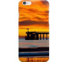 Venoco Ellwood Pier, in Bacara beach CA during sunset iPhone Case/Skin