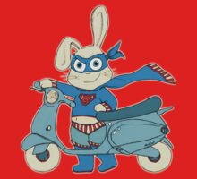 Be-All-You-Can-Be Bunny Rides in to Save the Day by micklyn