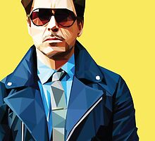Robert Downey Jr - Low Poly Vector by khitkhat