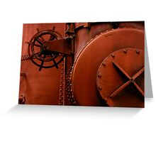 Industrial Rouge Greeting Card