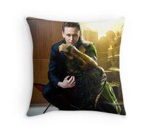 Two-Face: Tom & Loki Throw Pillow