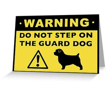 Funny Norfolk Terrier Guard Dog Warning Greeting Card