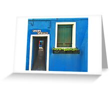 Burano - calle caletta Greeting Card