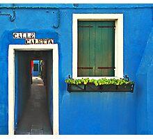 Burano - calle caletta Photographic Print