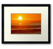 Surfer Sunset Framed Print