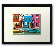 Colorful Burano  Framed Print