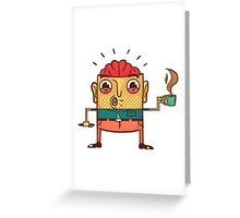 Coffee Man Greeting Card