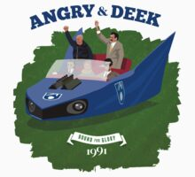Angry & Deek - Bound For Glory (for white & light shirts) Kids Tee