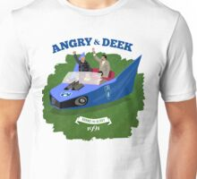 Angry & Deek - Bound For Glory (for white & light shirts) Unisex T-Shirt