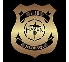 Haven Team Wuornos Gold Police Badge Logo Photographic Print