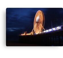 Long exposure of Blackpool big wheel  Canvas Print