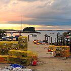 Pier, Sunset, Jonesport, Maine by fauselr