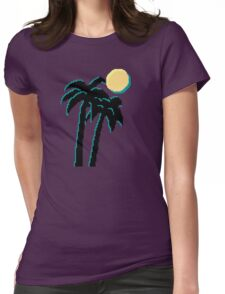 Palm Trees and Pixels Womens Fitted T-Shirt