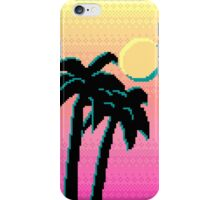 Palm Trees and Pixels iPhone Case/Skin
