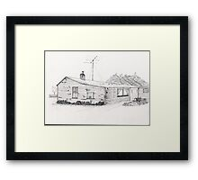 Western Southland Farm House NZ Framed Print