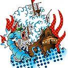 Sea Serpent by everchangingINK