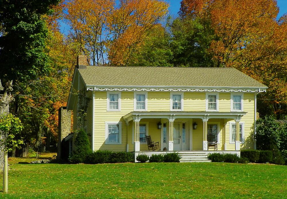 Autumn Farmhouse by Pamela Phelps